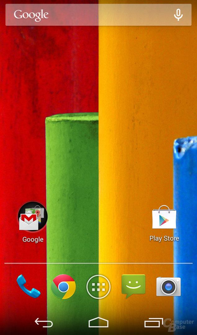 Motorola Moto G Homescreen