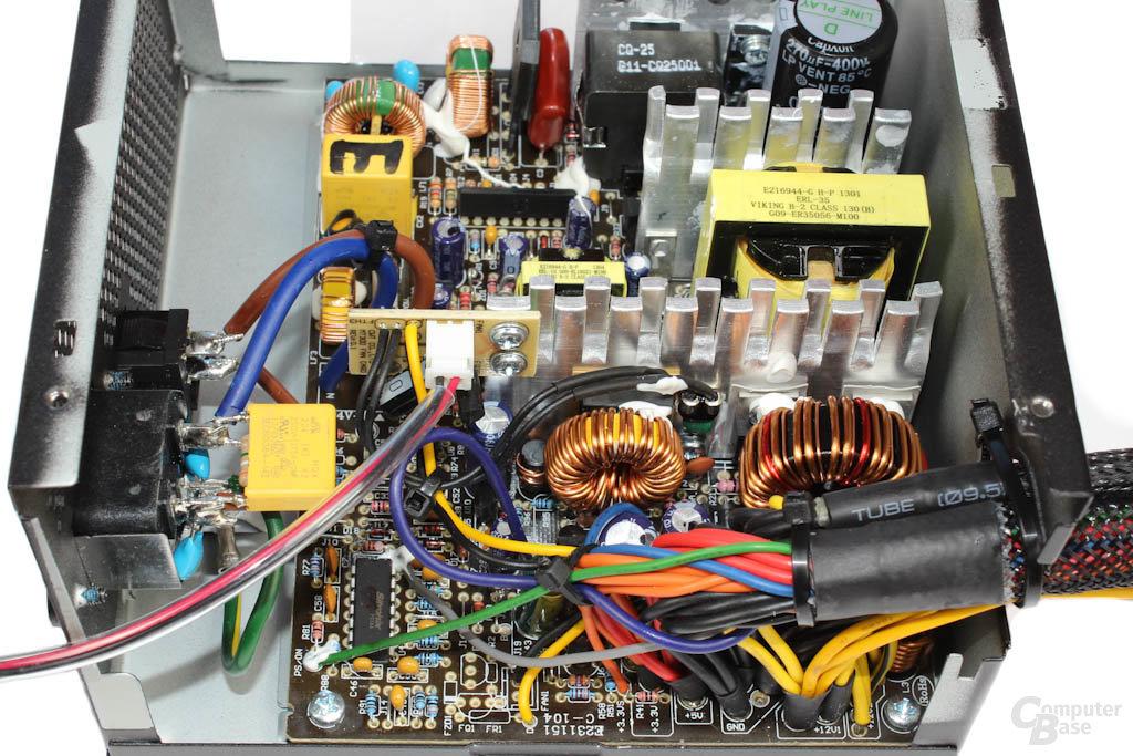 Cooler Master B500 - Sekundärseite im Detail