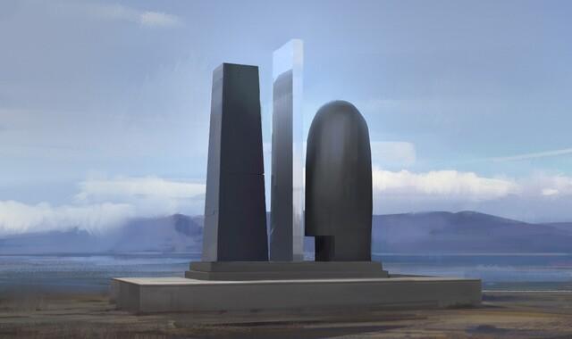 Konzept-Zeichnung des Monuments