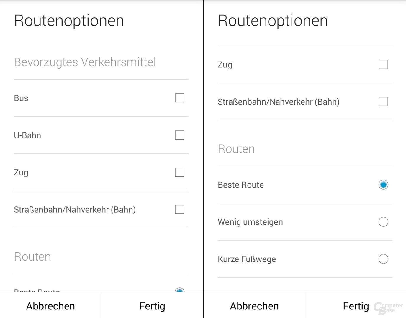 Google Maps 7.6 für Android
