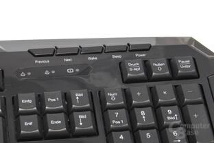 rechtsseitige Zusatztasten mit Office-Funktionen