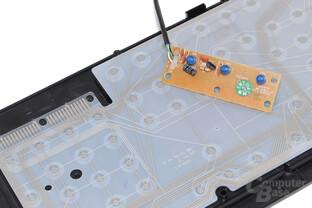 PCB, einzelne Rubberdome-Schalter, Leiterfolien