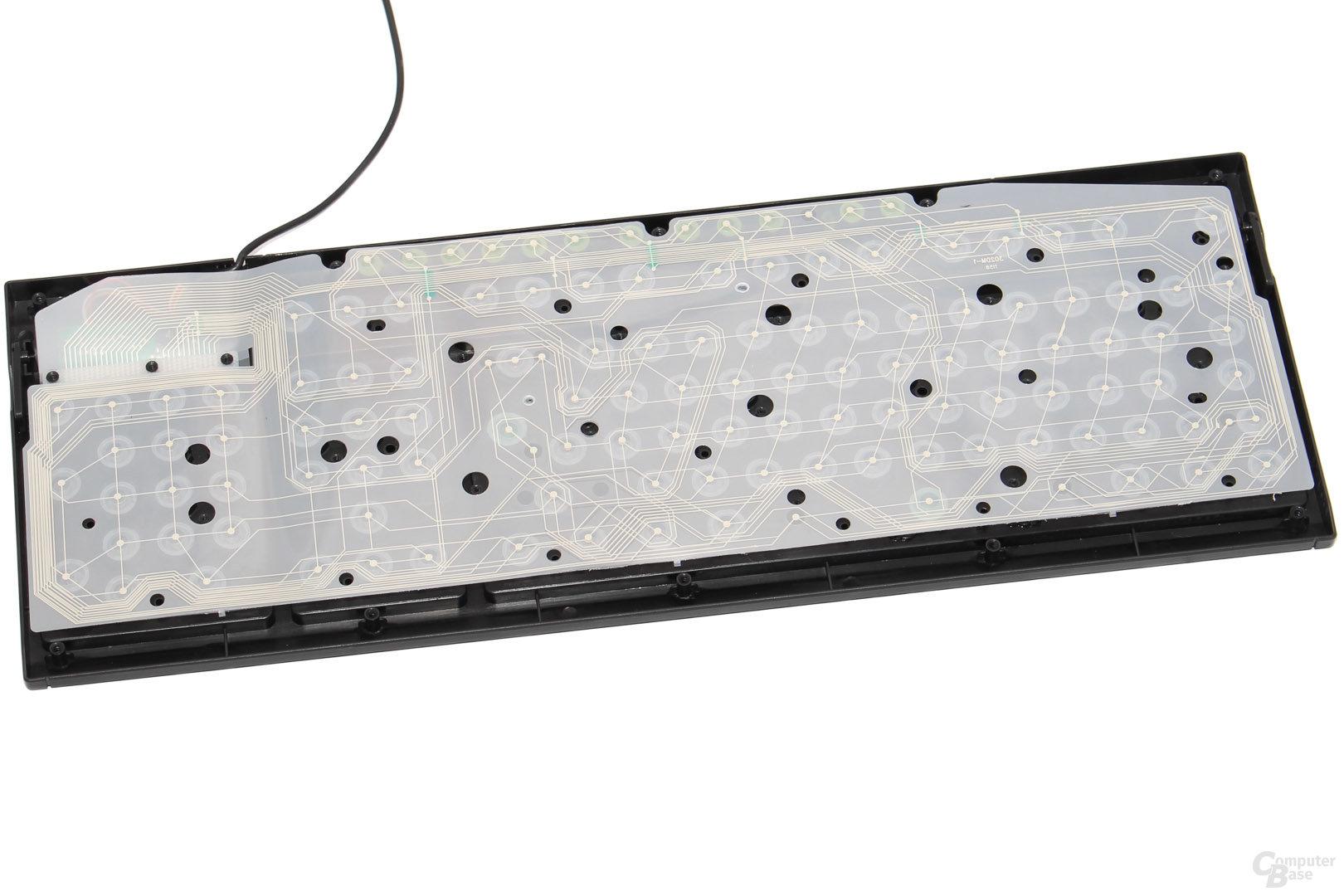 Leiterfolie mit einzelnen Gummiglocken