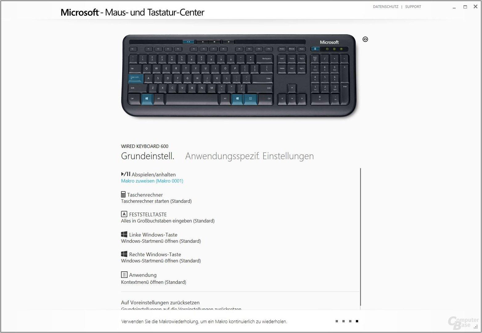 Per Software möglich: Die Konfiguration der Tastatur