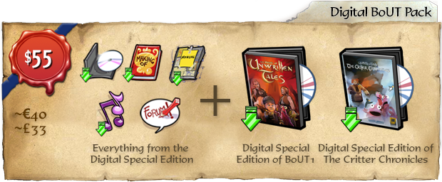 The Book of Unwritten Tales 2: Spendenpakete