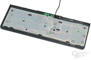 auf Leiterfolie geklebte Rubberdome-Schalter