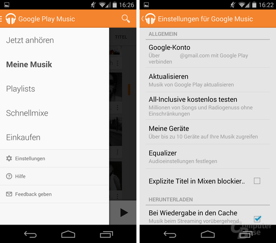 Google Play Music 5.4