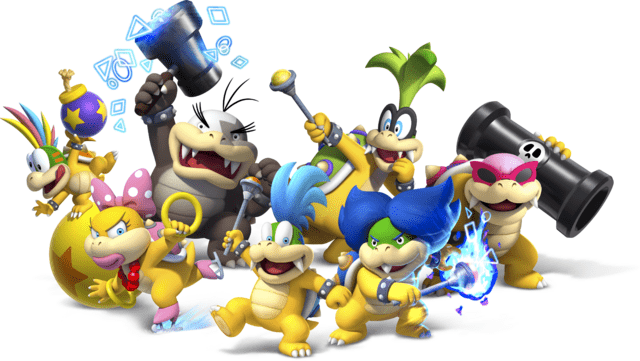 Koopalings: Iggy, Larry, Lemmy, Ludwig, Morton, Roy und Wendy