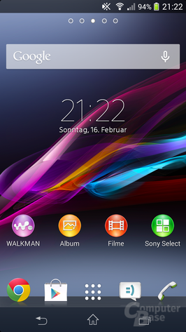 Sony Xperia Z1 Compact – Homescreen