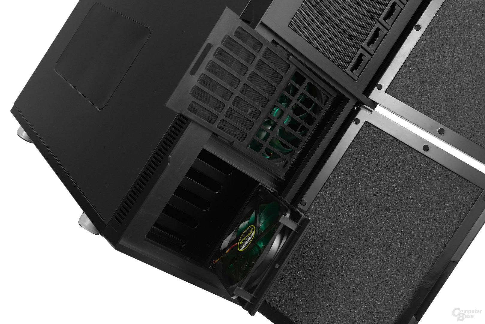Nanoxia Deep Silence 6 – Zwei vorinstallierte 140-mm-Frontlüfter mit Staubfilter
