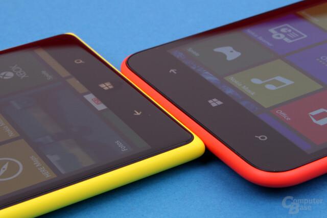 Aus eckig mach rund: Das Lumia 1320 liegt angenehmer in der Hand