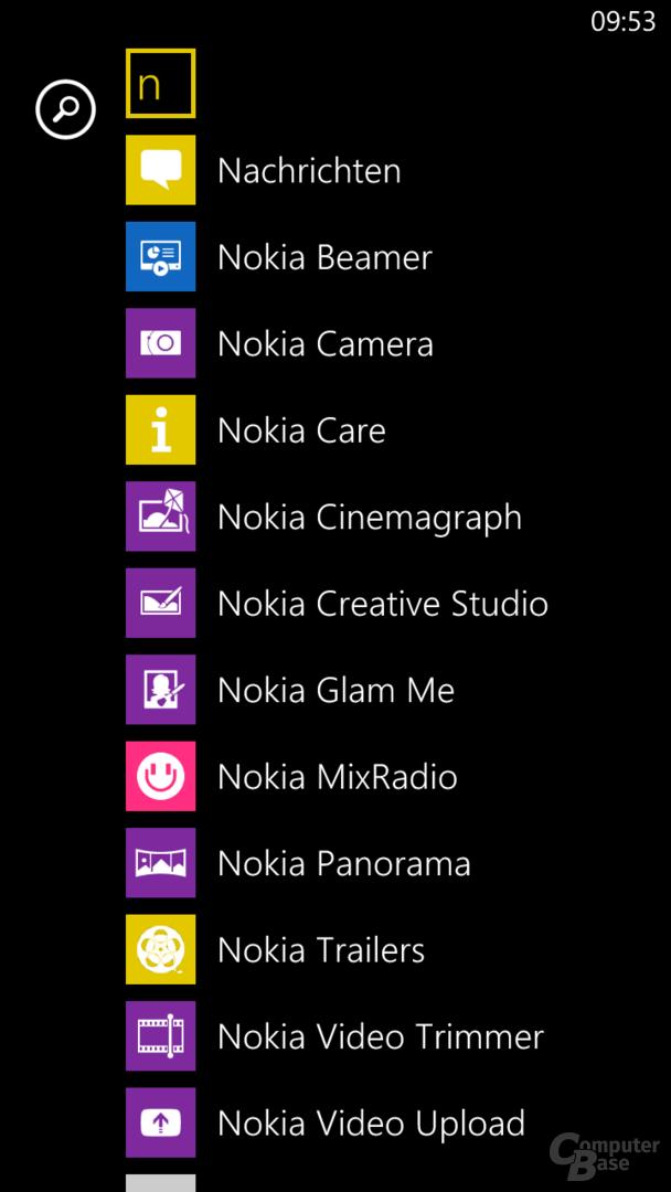 Windows Phone 8 lebt von Nokia-Apps