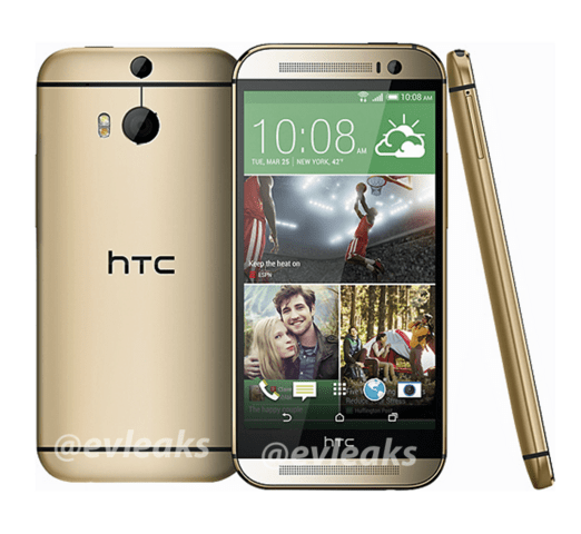 "Das ""All New HTC One"" in Gold"