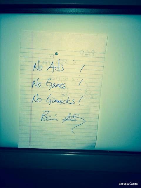 Notiz von Brian Acton an Jan Koum