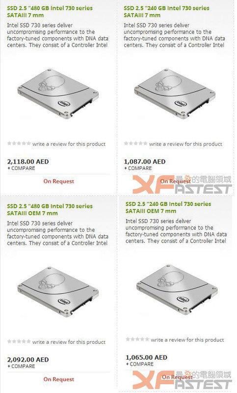 Intel SSD 730 Serie
