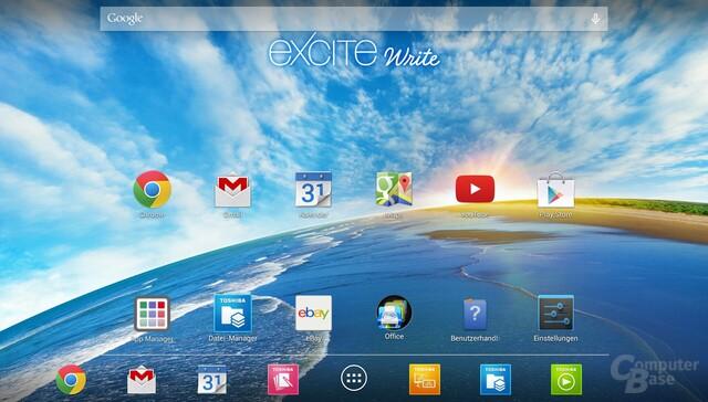 Android 4.3 auf dem Toshiba Excite Write
