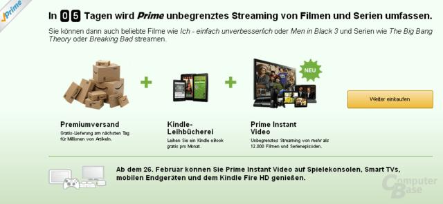Amazone Prime mit neuem VOD-Dienst