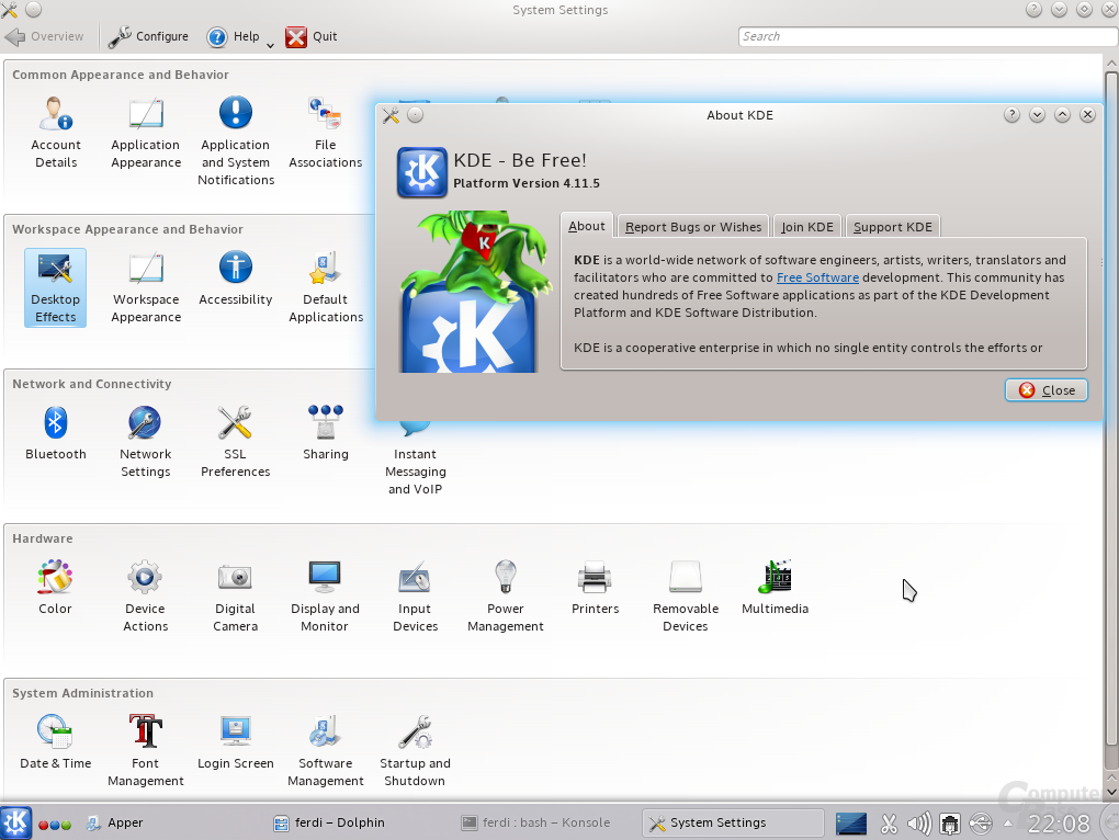 KDE-Systemsettings