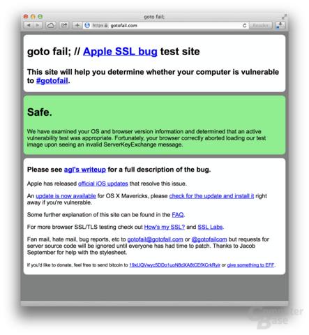 Test auf SSL-Lücke bestätigt Beseitigung