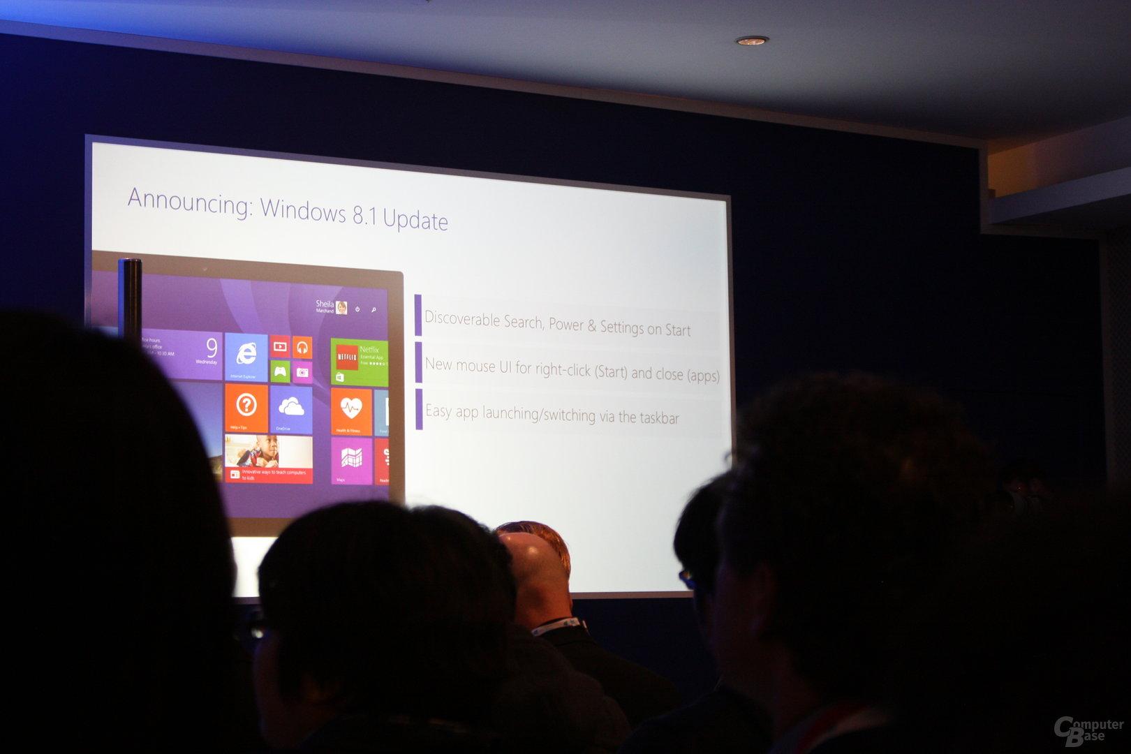 Microsoft Pressekonferenz auf dem MWC 2014