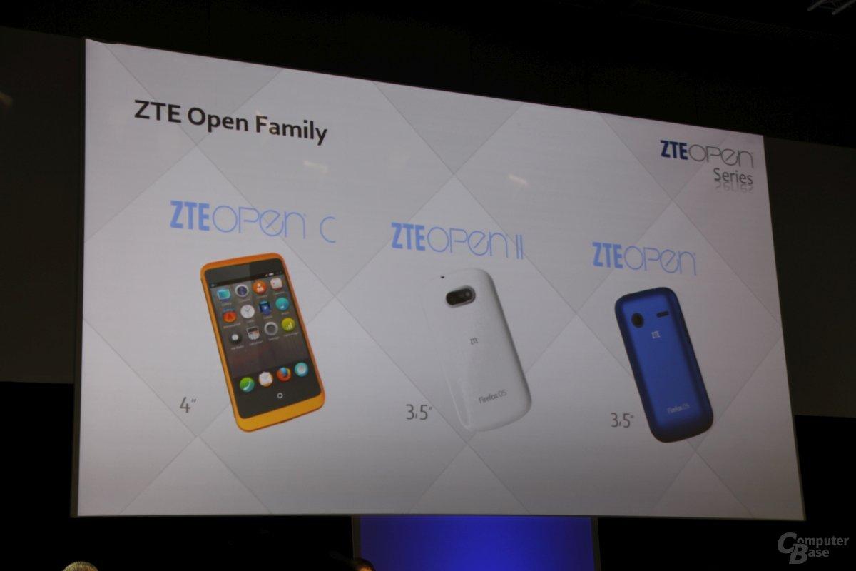 ZTE Open C und Open II setzen auf Firefox OS 1.3