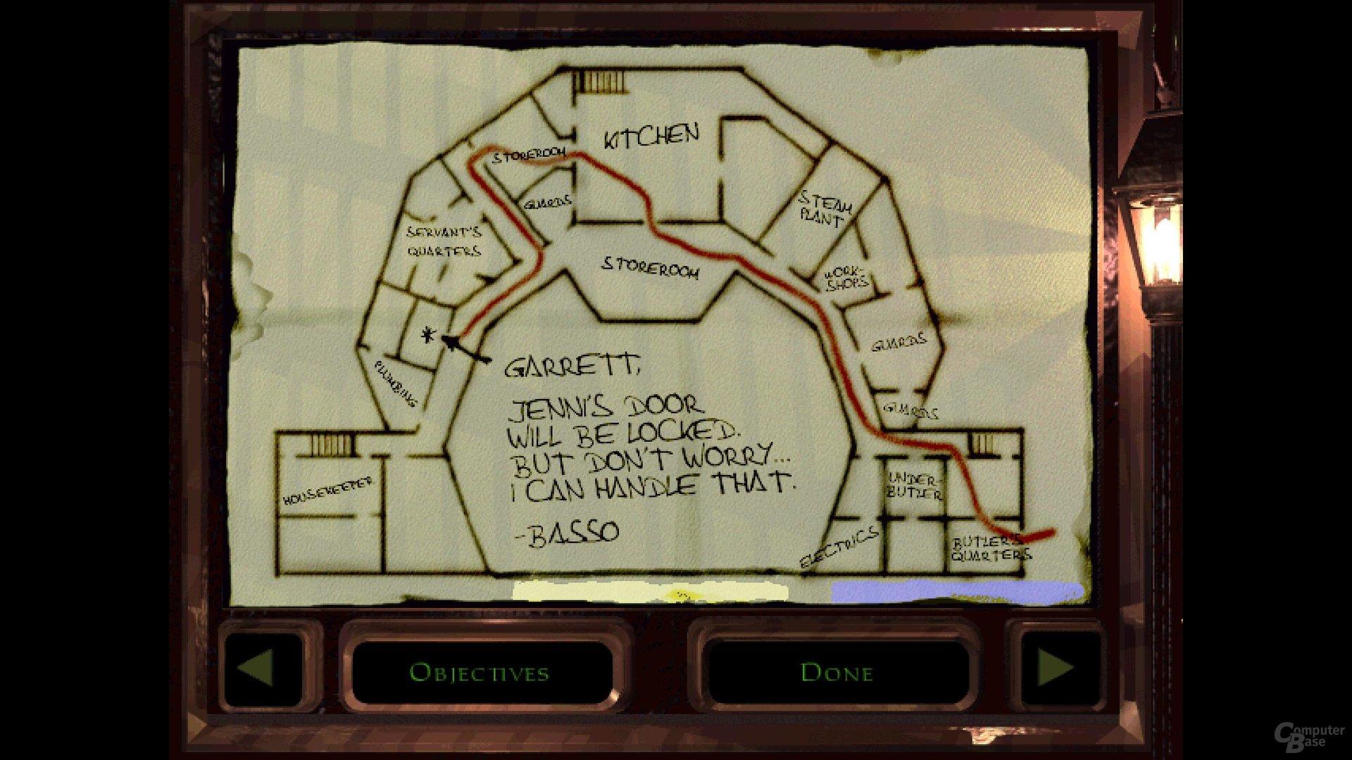 Wichtiges Hilfsmittel: Die Karte