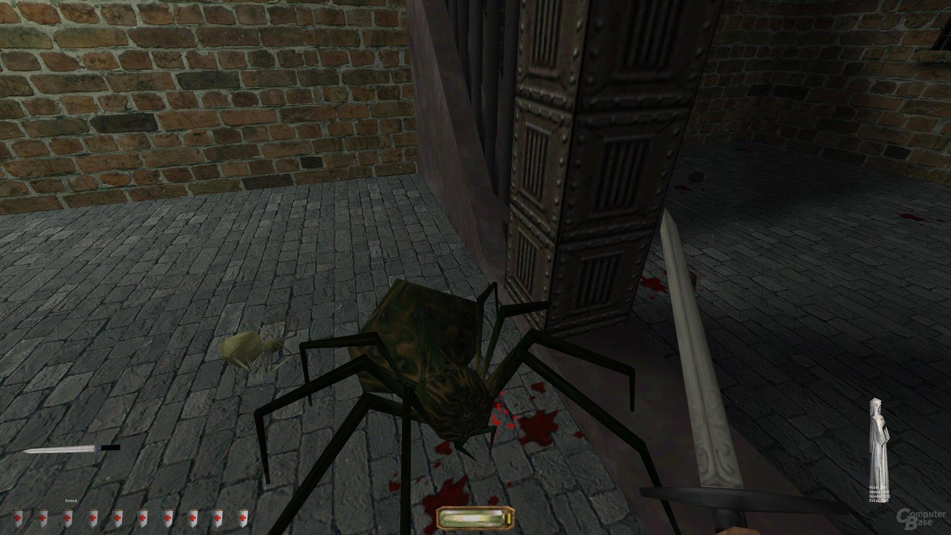 Hitbox Fehlanzeige: Kleine Spinnen sind kaum zu treffen