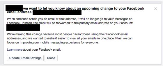 Facebook gibt eigenen E-Mail-Dienst auf