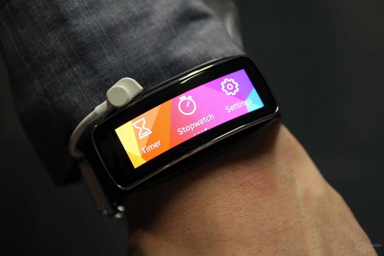 Samsung Gear Fit ausprobiert