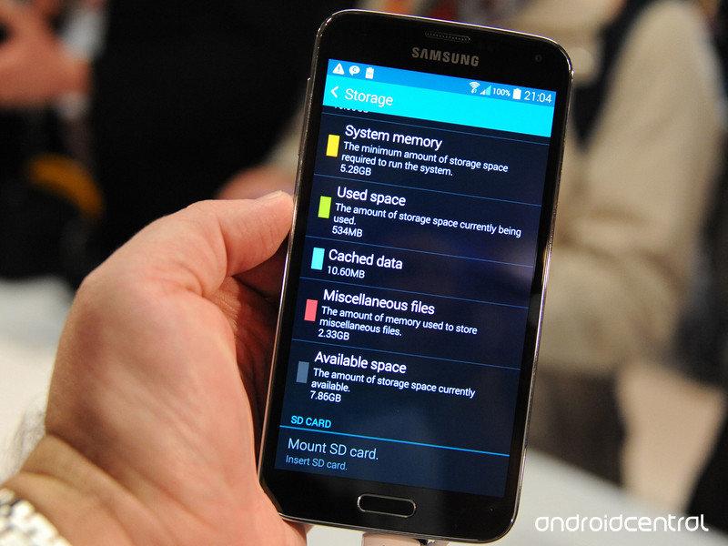 Speicherverbrauch des Galaxy S5