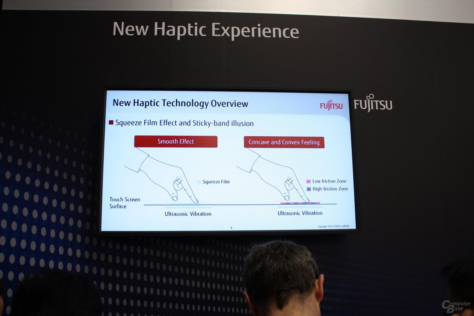 Fujitsus haptisches Display ausprobiert