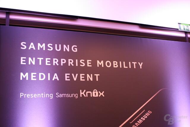 Samsung-Knox-Präsentation auf dem MWC 2014