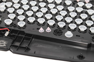 Rubberdome-Schalter in einfacher Anordnung ohne Matte (Sharkoon Skiller)
