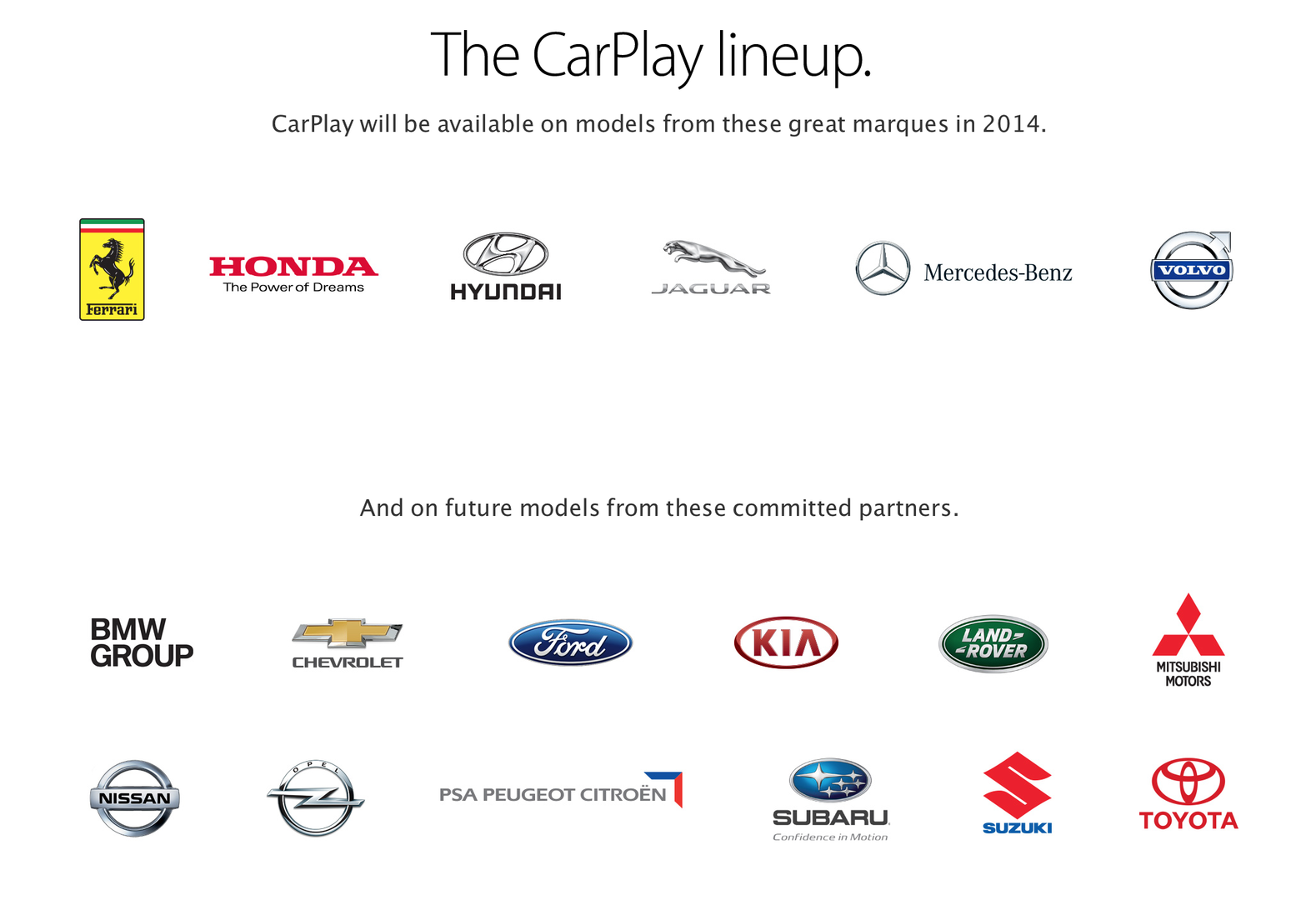 Apples Partner bei CarPlay