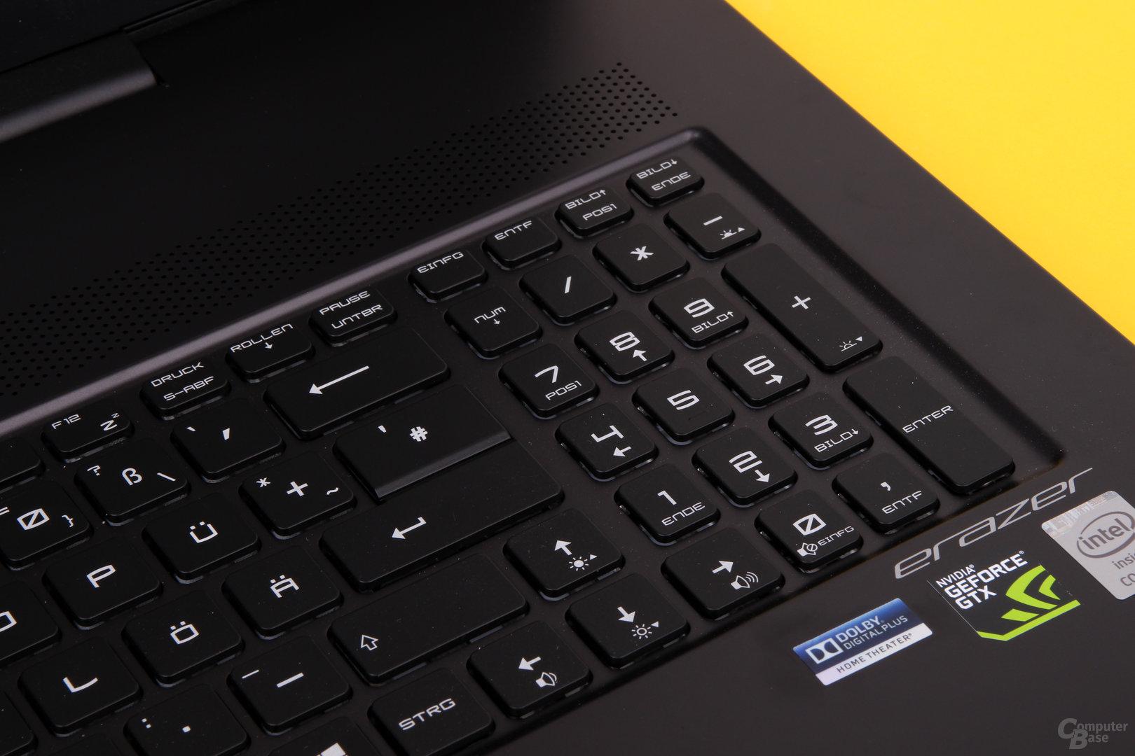 Tastatur mit Ziffernblock