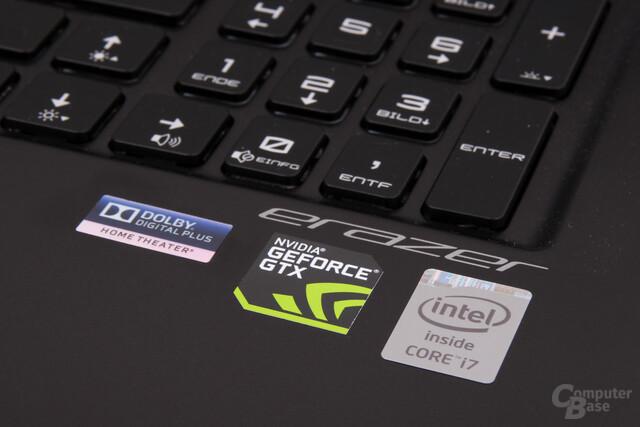 Intel Core i7-4700HQ und Nvidia GTX 765M sorgen für Antrieb