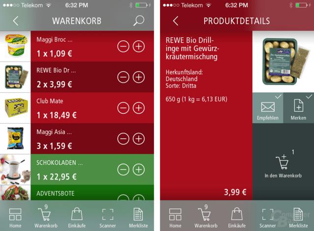 Mall2Go – Warenkorb & Produktdetails