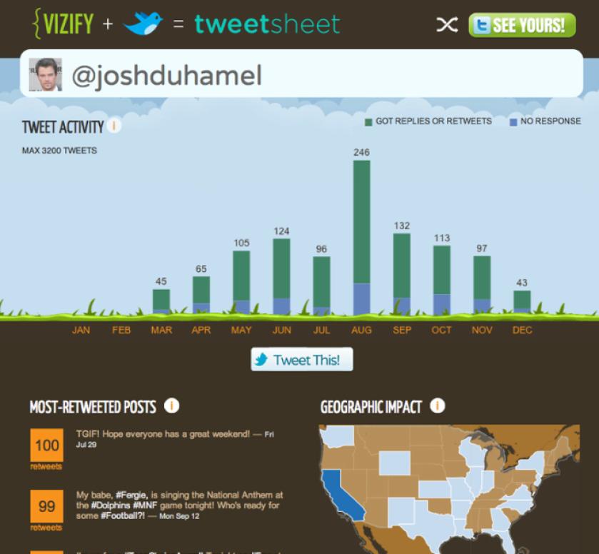 Mit Vizify erstellte Infografik