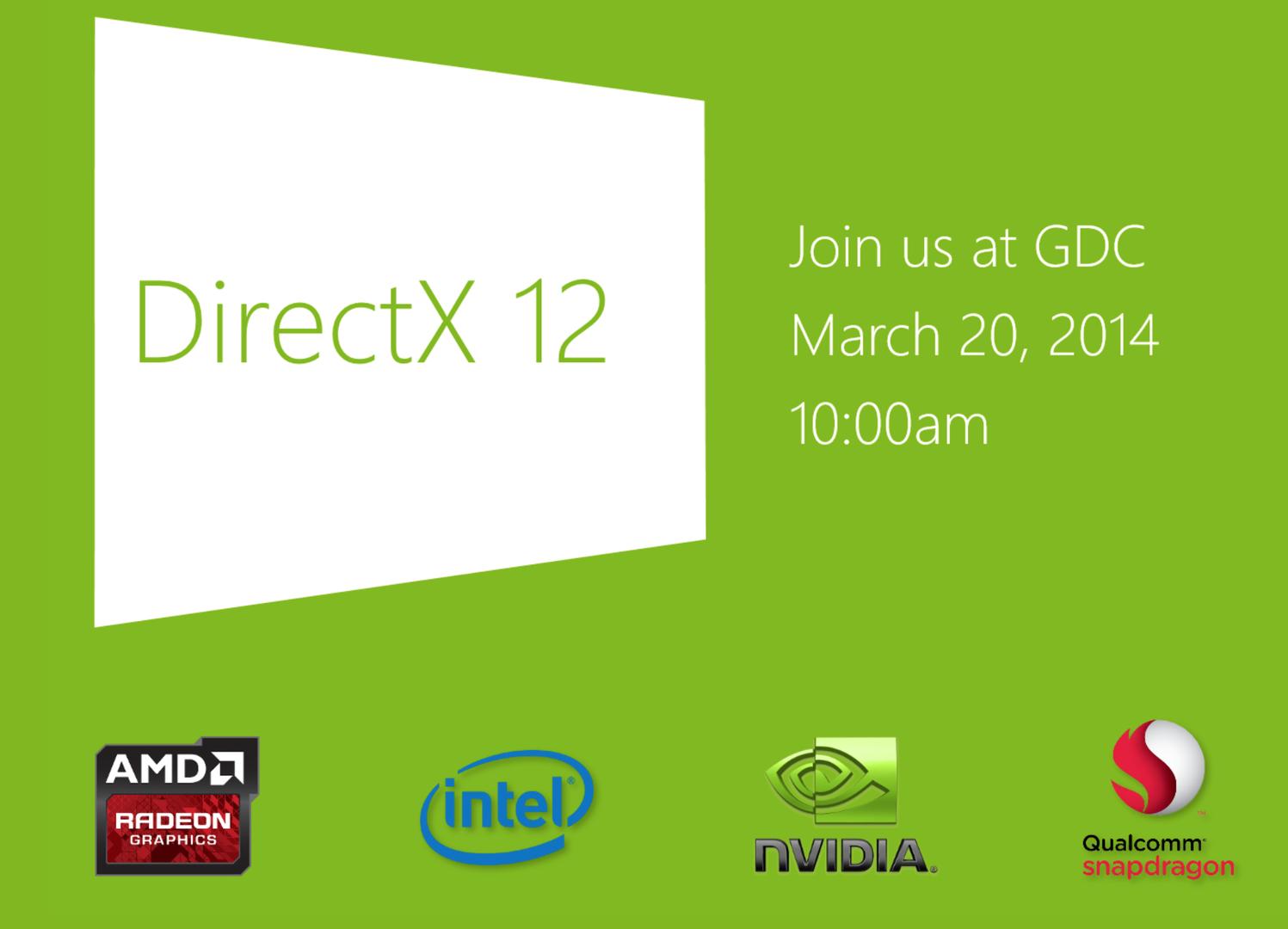 Die Ankündigung der Vorstellung von DirectX 12