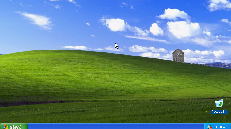 Abschied nach 4.548 Tagen: Windows XP: ﹡2001 – † 2014
