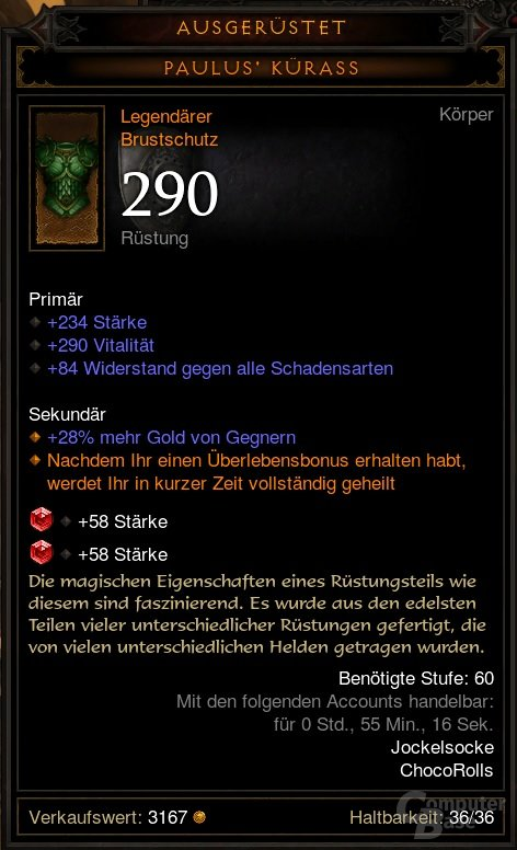Accountgebundener Gegenstand in Diablo 3 2.0