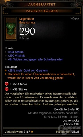 Accountgebundener Gegenstand in Diablo 3 2.0