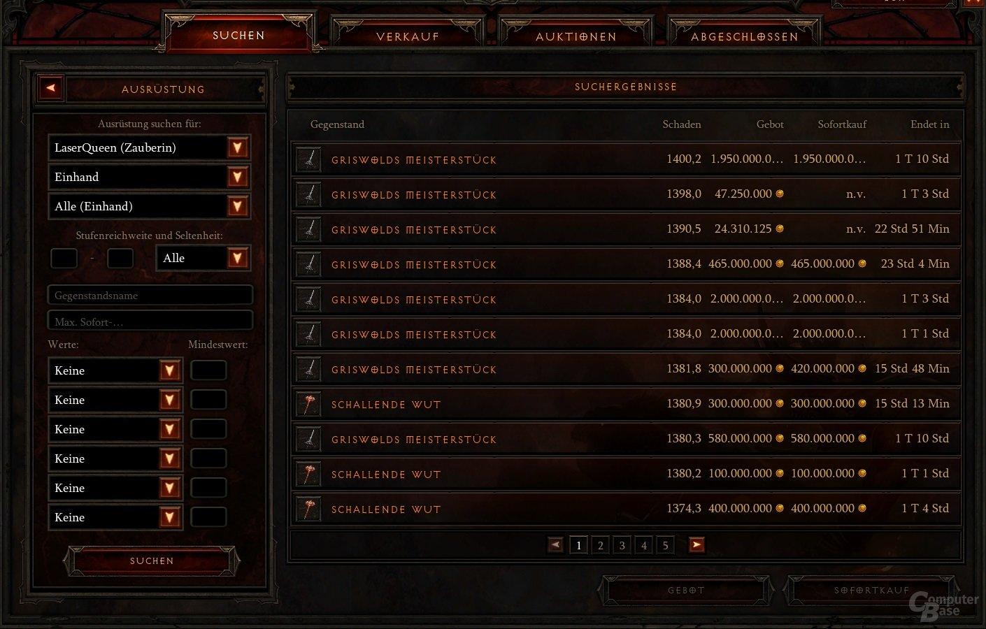 Auktionshaus in Diablo 3