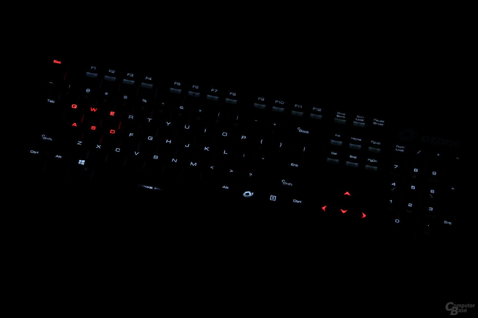nicht regelbar: die roten LEDs