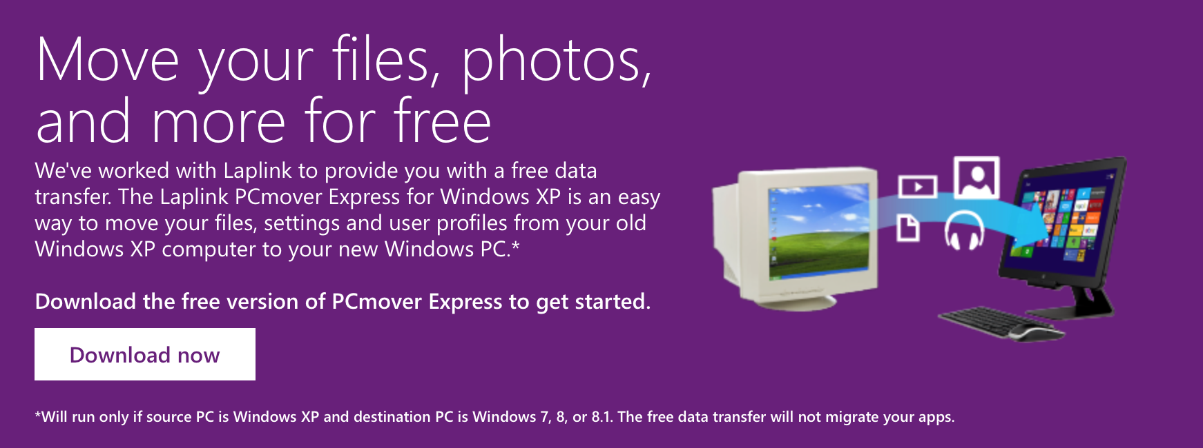 PCmover Express for Windows XP