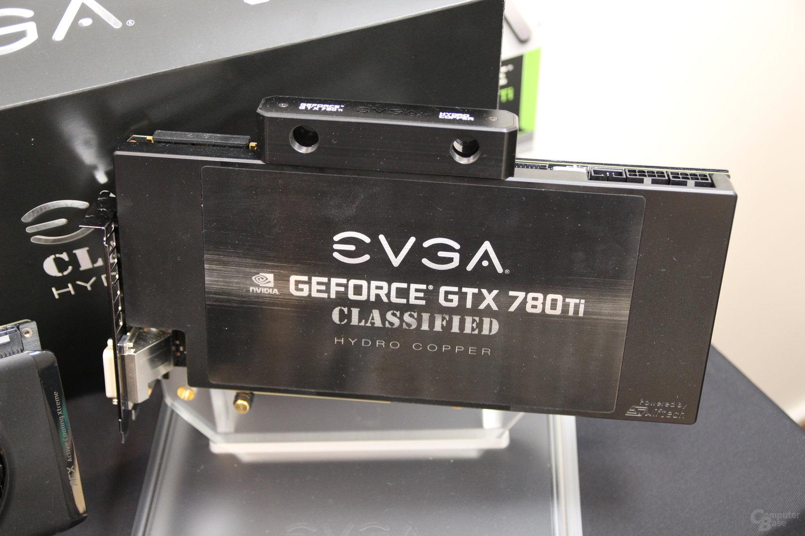 EVGA GeForce GTX 780 Ti Hydro Copper als optischer Vergleich