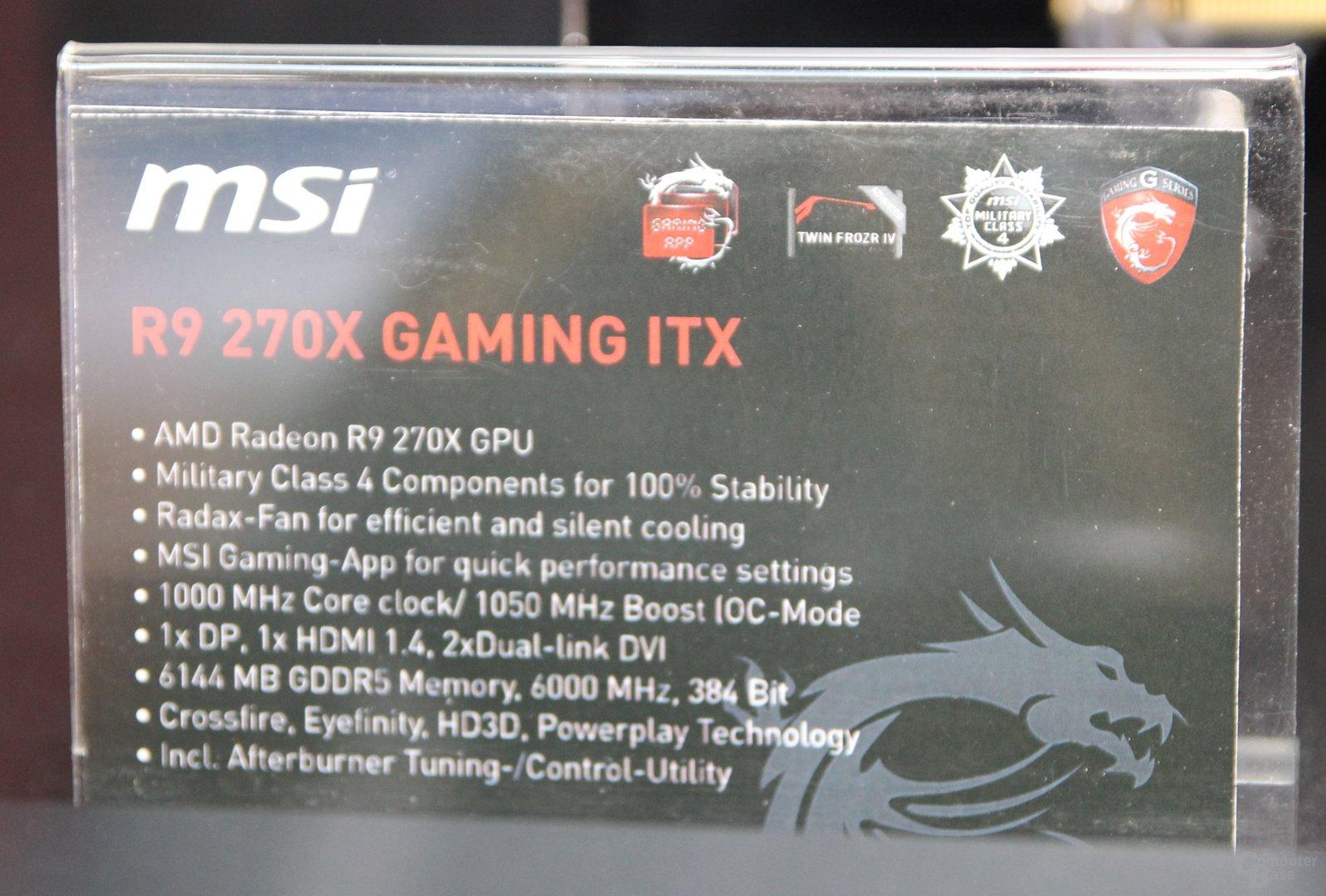 MSI Radeon R9 270X Gaming ITX mit falscher Beschreibung