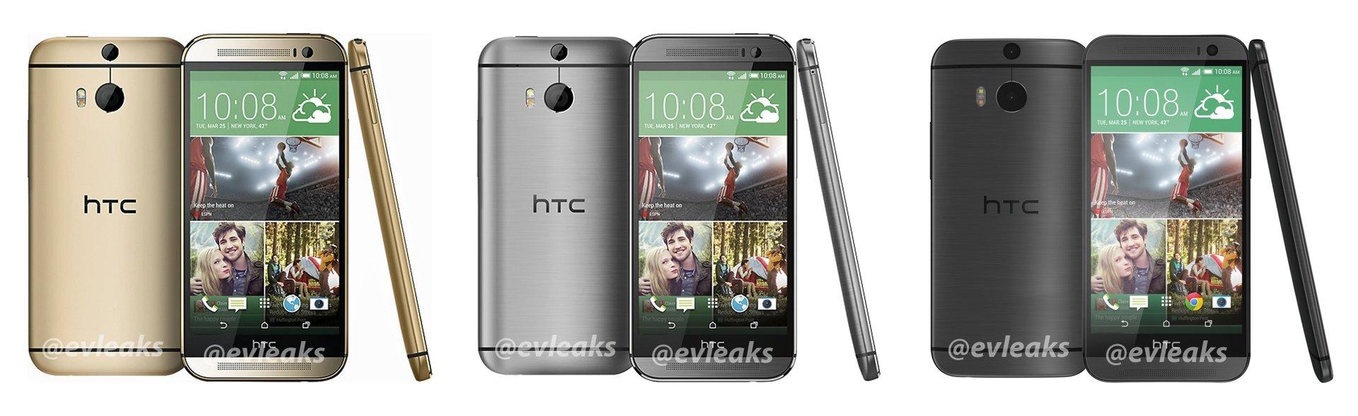 HTC One (2014) in Gold, Silber und Grau