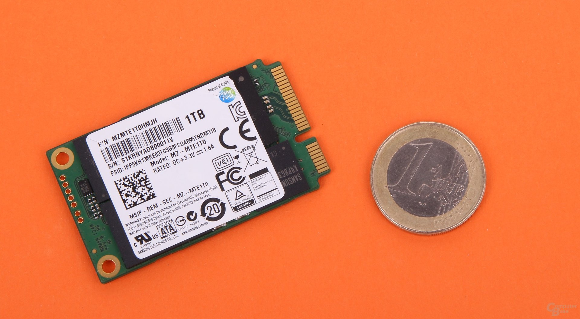 Samsung 840 Evo mSATA-SSD mit 1 TByte