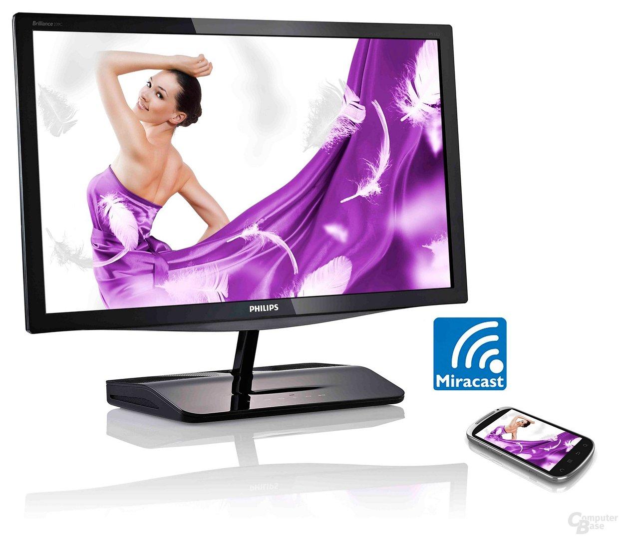 Philips 239C4QHWAB mit Miracast